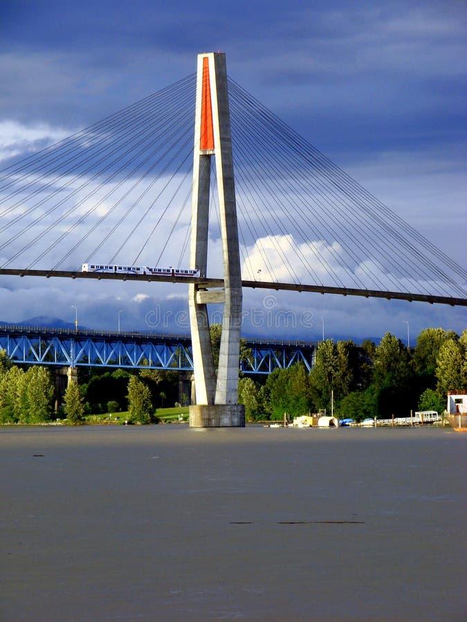 skytrain温哥华 免版税图库摄影