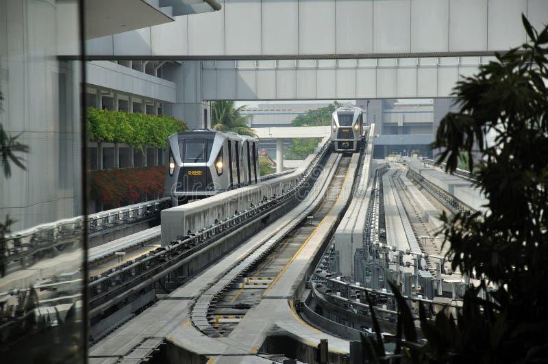 Skytrain arrival royalty free stock photos