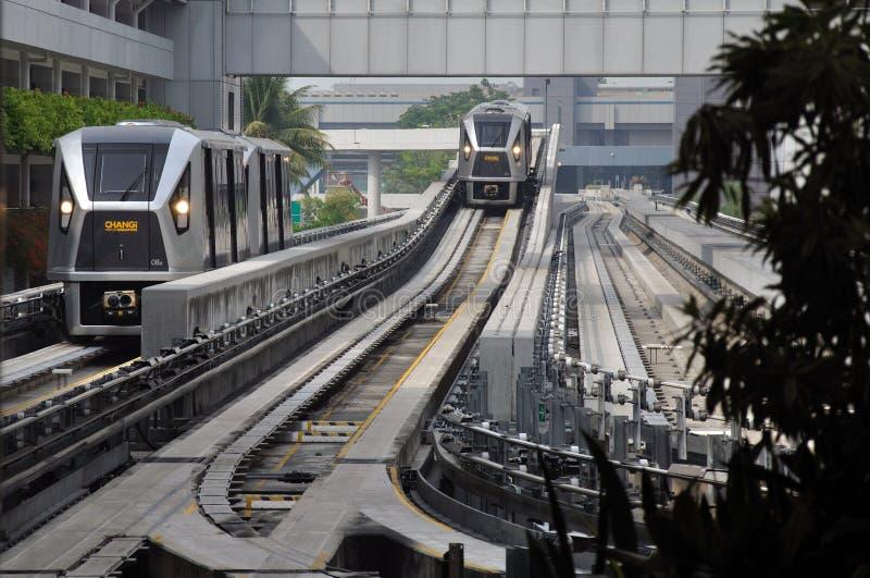 Skytrain arrival stock photography