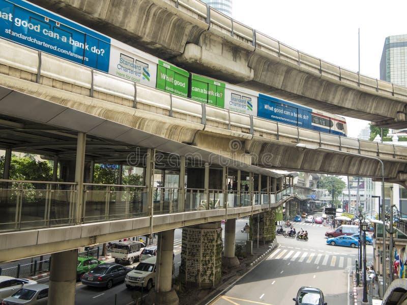 Skytrain de BTS, Bangkok photos libres de droits