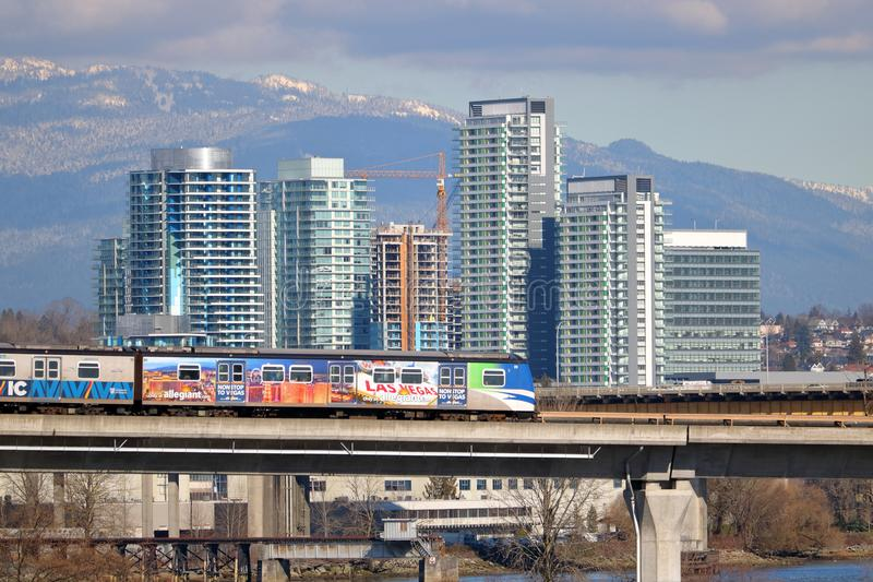 Rapid Transit and Vancouver, Canada royalty free stock photography