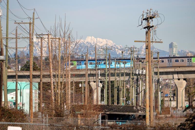 Skytrain och Interurban Vancouver, Kanada arkivfoto