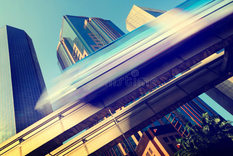 Skytrain Speed City Transportation Concept.  royalty free stock image