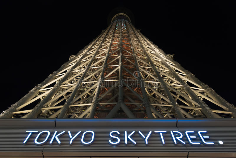 skytree tokyo royaltyfria foton