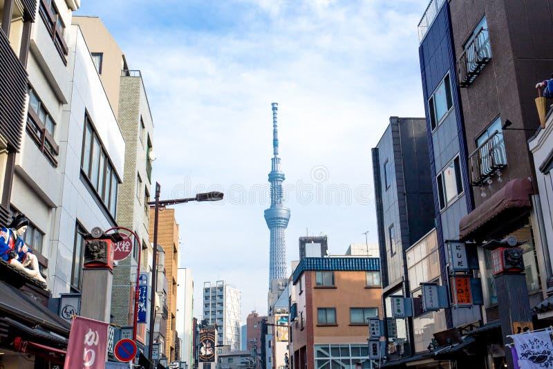 skytree tokyo arkivfoto