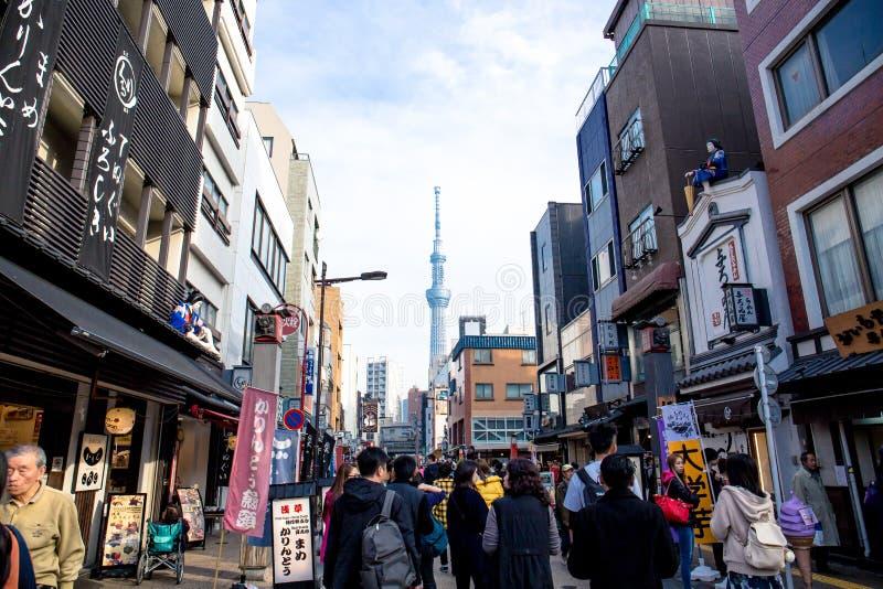 skytree tokyo fotografering för bildbyråer