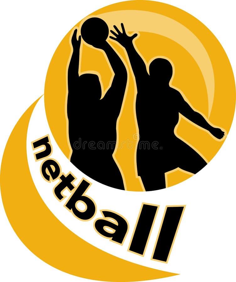 skytte för bollnetballspelare royaltyfri illustrationer