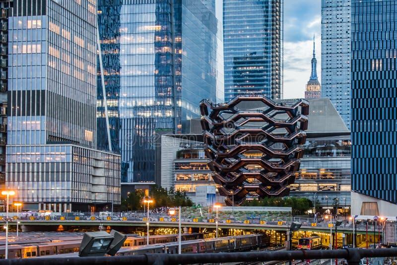 Skytteln på Hudson Yards royaltyfri bild