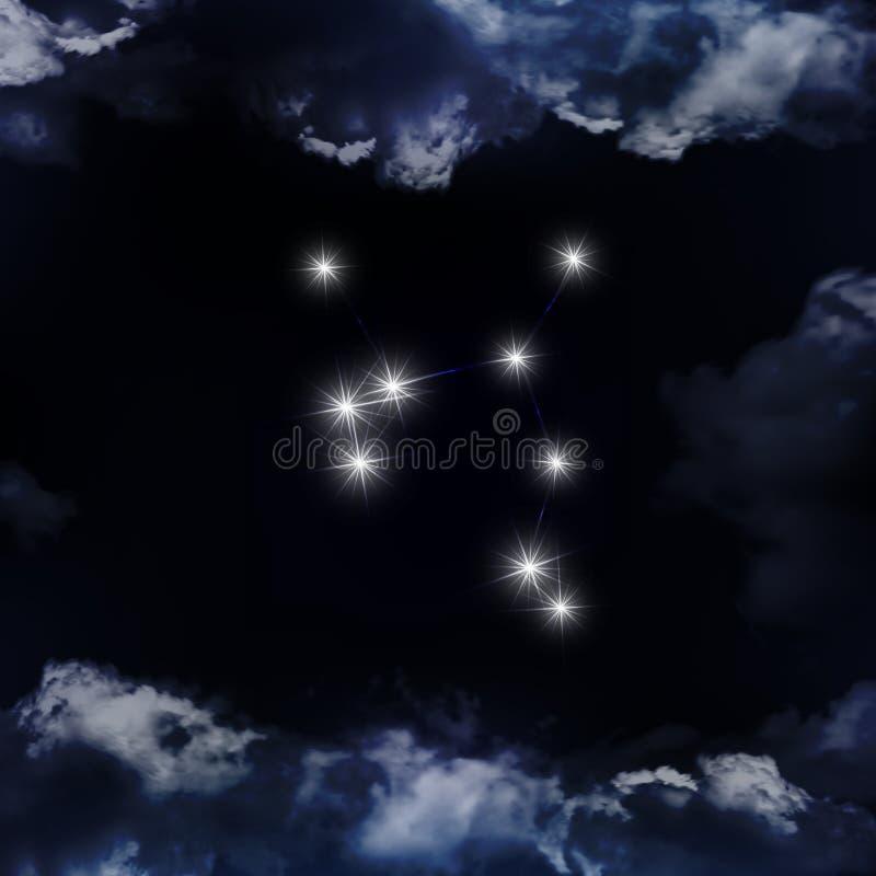 Skyttenkonstellation Zodiac undertecknar sagittariusen stock illustrationer