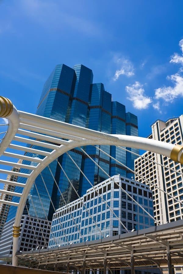 Download Skywalk In Bangkok In Business Area Royalty Free Stock Image - Image: 24623606