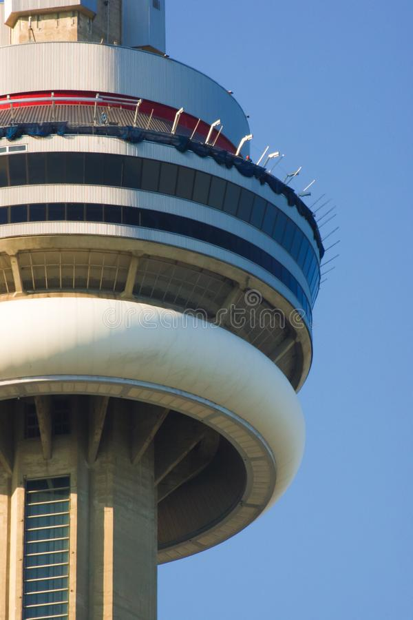 Skywalk in CN Tower under construction in Toronto Ontario Canada royalty free stock image