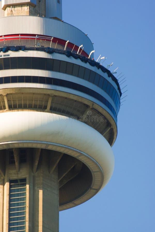 Skywalk i CN-torn under konstruktion i Toronto Ontario Kanada royaltyfri bild