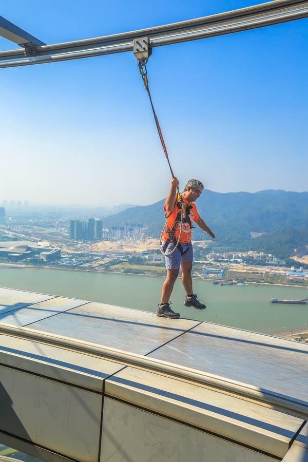 Free Skywalk Macau Tower Royalty Free Stock Images - 83441479