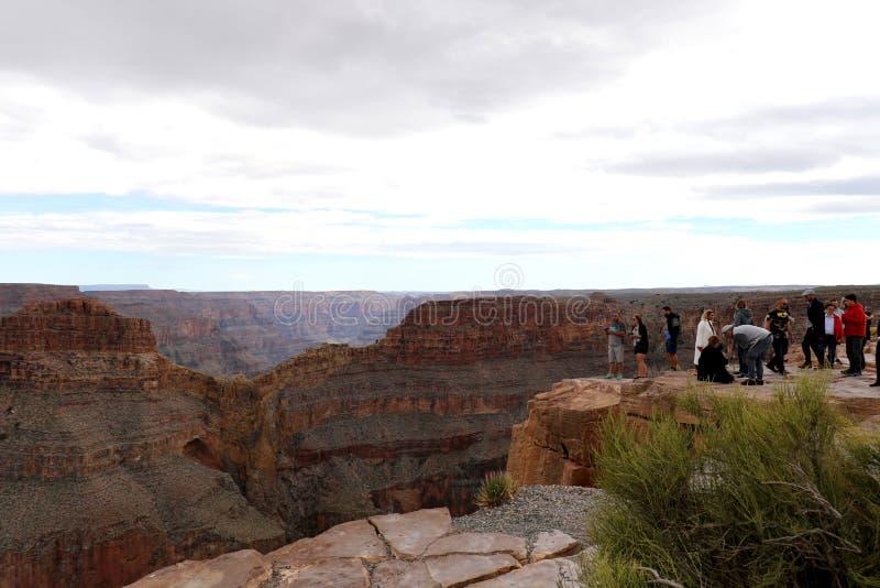 Skywalk på Grand Canyon, på Eagle Point i Arizona, Förenta staterna arkivfoton
