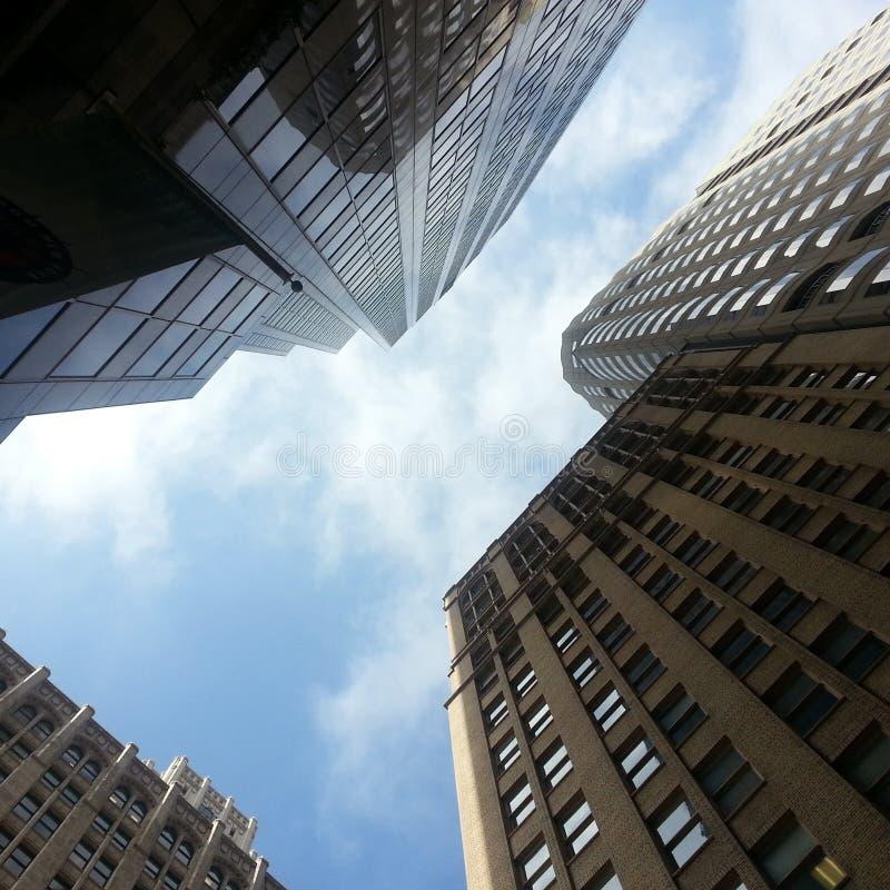 Skyward ουρανοξύστες στοκ φωτογραφία με δικαίωμα ελεύθερης χρήσης
