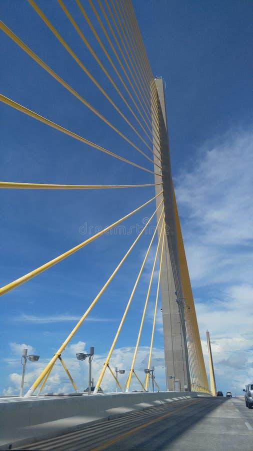 Skyway Brücke Florida des Sonnenscheins skyway stockbild