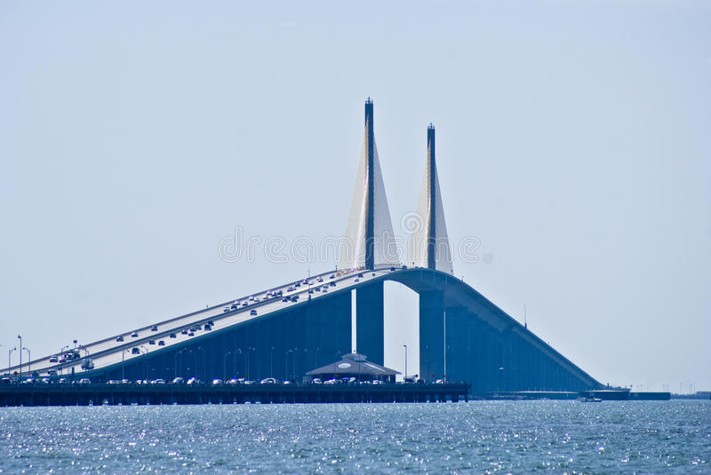 Download Skyway Bridge stock photo. Image of cables, morning, lifeboats - 13825338