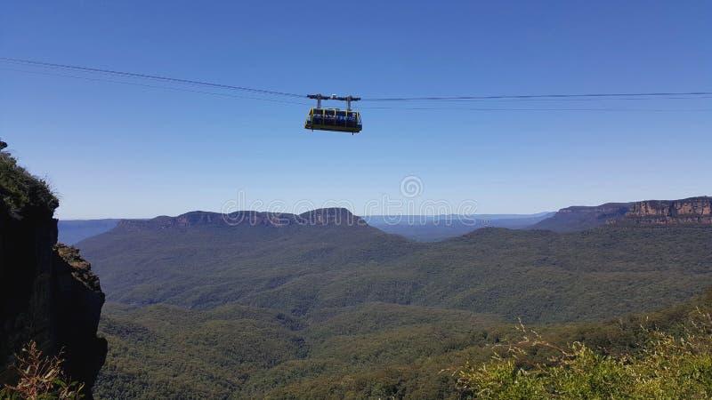 Skyway-Drahtseilbahn in Katoomba - blaue Berge Nationalpark, Australien stockbild