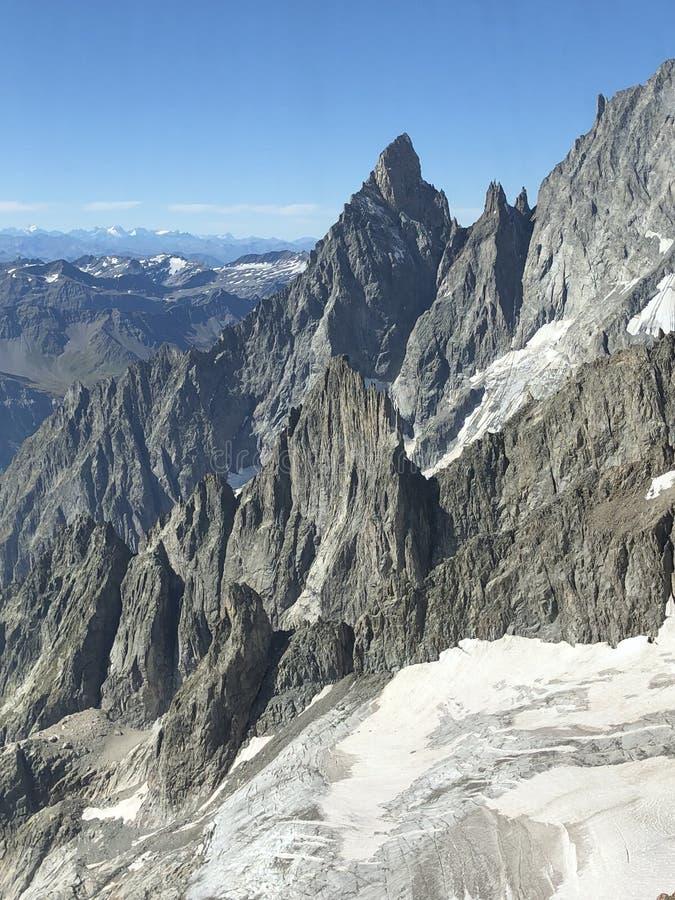 Skyway monte bianco royalty-vrije stock foto
