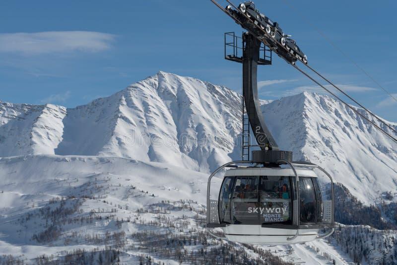 Skyway Monte Bianco, Courmayeur, Ιταλία στοκ εικόνες