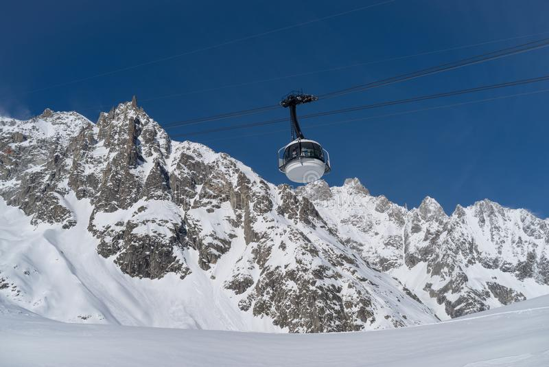 Skyway Monte Bianco, Courmayeur, Italien stockfotografie