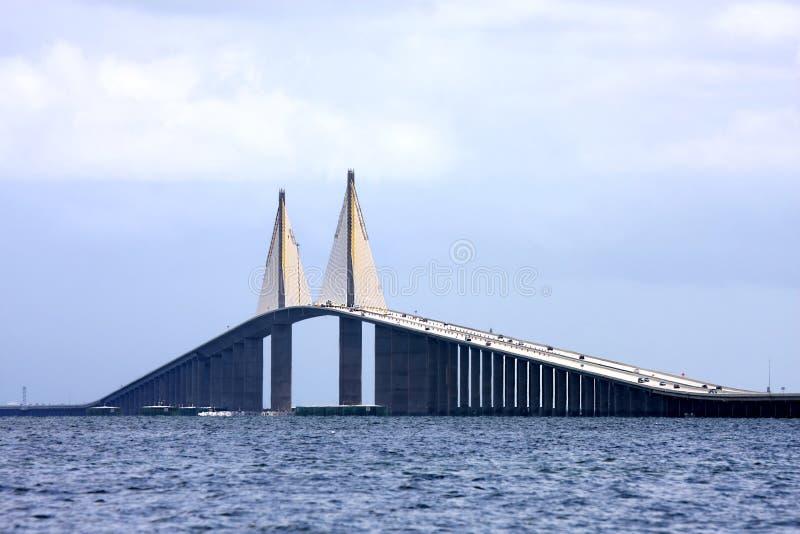 skyway solsken för bro royaltyfria foton