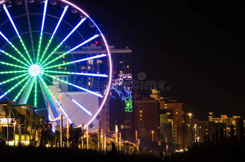 Skywheel in Myrtle Beach fotografia stock libera da diritti