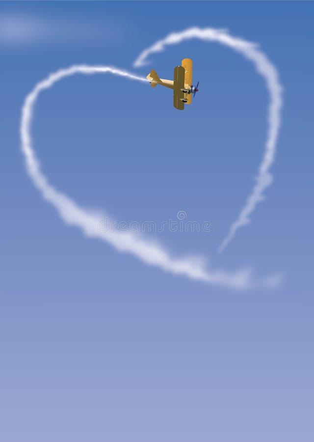 Skywriter illustration stock