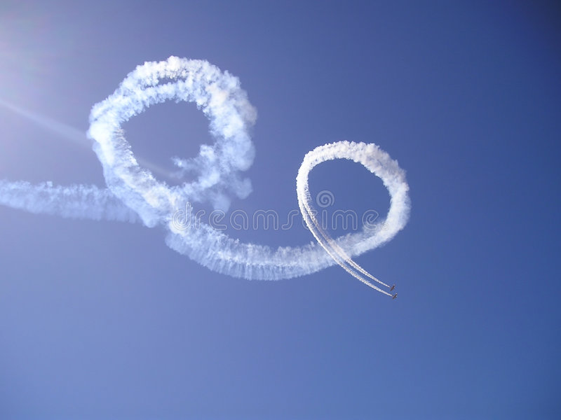 Skywriting royalty free stock images