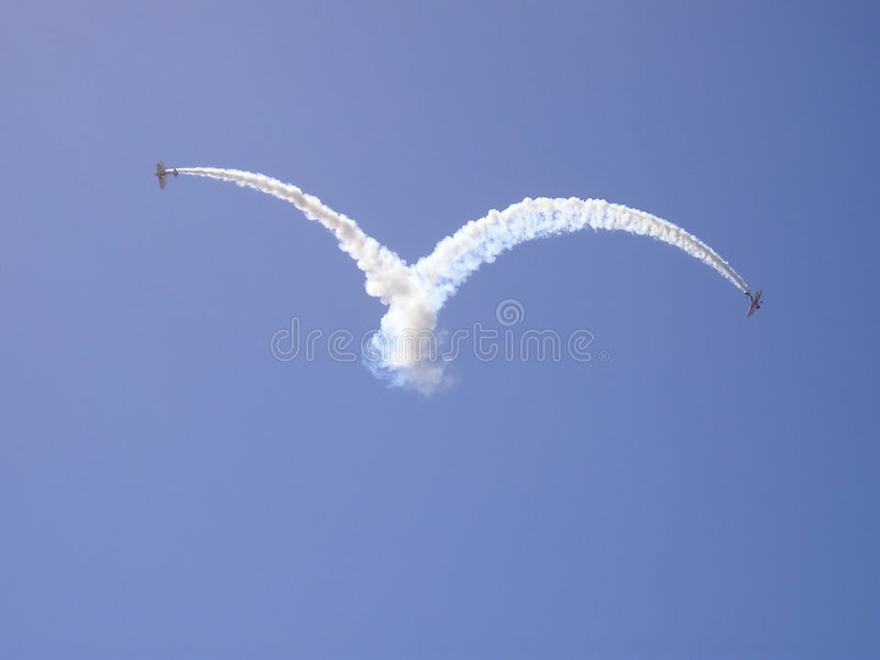 Skywriting lizenzfreies stockbild