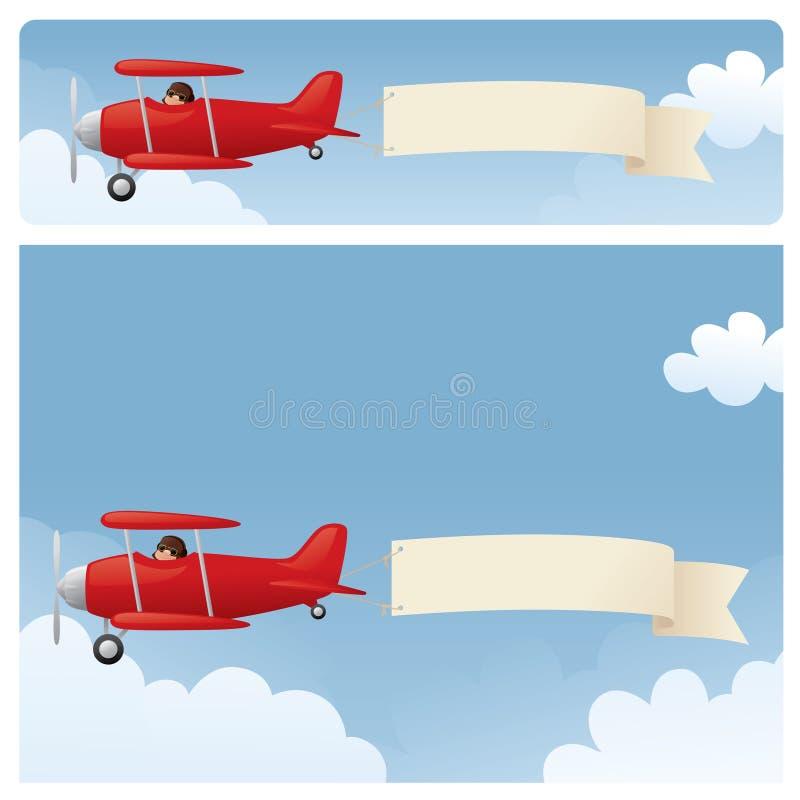 Skywriting royalty free illustration