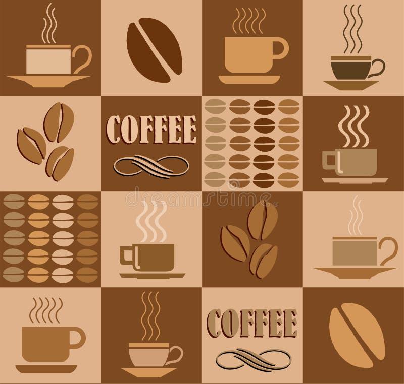 släkt kaffeillustration vektor illustrationer