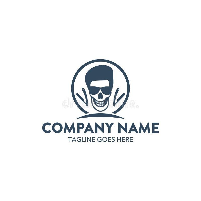 Släkt logomall för unik frisersalong vektor redigerbart vektor illustrationer