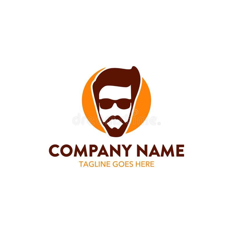 Släkt logomall för unik frisersalong vektor redigerbart stock illustrationer