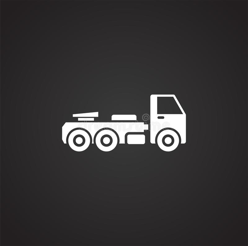 Släkt symbol för tungt medel på bakgrund för diagram och rengöringsdukdesign enkel terminal f?r flygplanillustration Internetbegr stock illustrationer