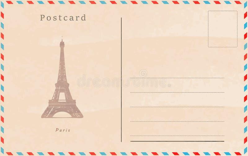 släkt tappning för antik collectible postobjektvykort för designeps för 10 bakgrund vektor för tech Huvudstäder av världen royaltyfri illustrationer