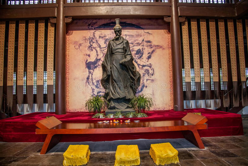 Släkt- tempel av Qu Yuan in royaltyfri fotografi