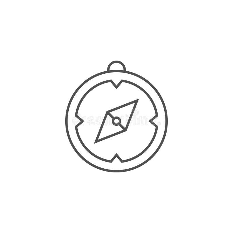 Släkt vektorlinje symbol för kompass royaltyfri illustrationer