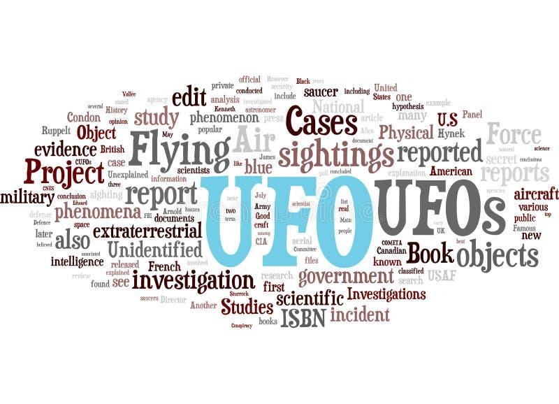 släkta ufo-ord för oklarhet royaltyfri illustrationer