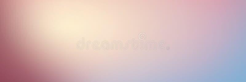 Slät lutningbakgrund med färger för pastellfärgade rosa färger och blått lon arkivfoton