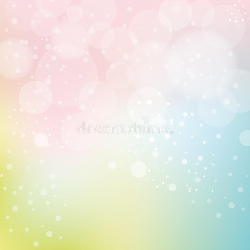 Slät pastellfärgad bakgrund med Bokeh royaltyfri illustrationer