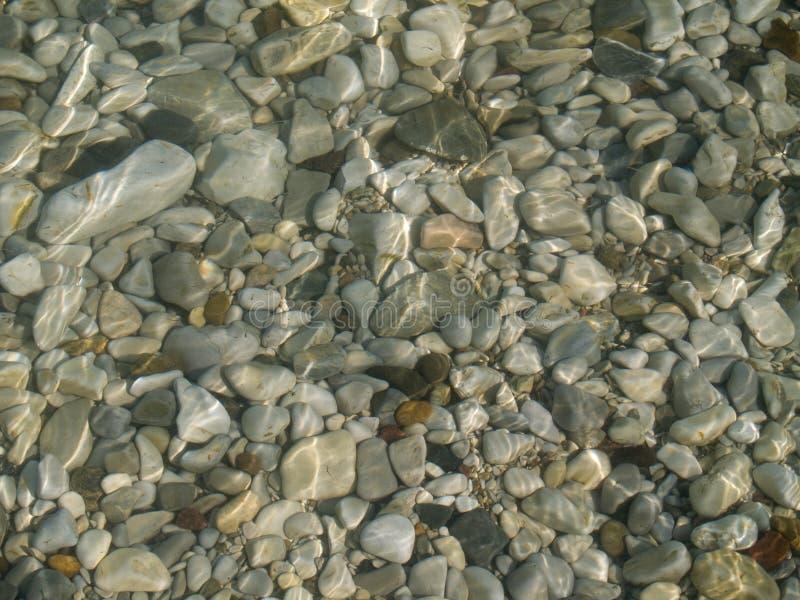 slät sten för hav arkivbild
