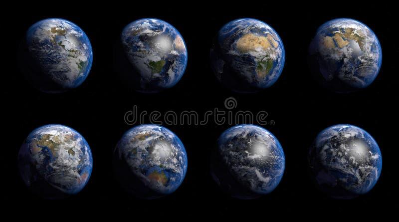 slät yttersida för abstrakt planet för jordjordningsbild royaltyfri illustrationer