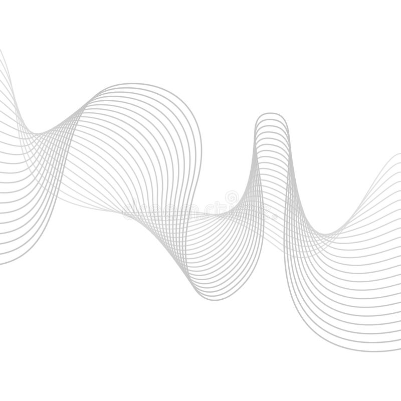Släta grå färgvågor abstrakt begrepp lines vektorn blandar royaltyfri illustrationer