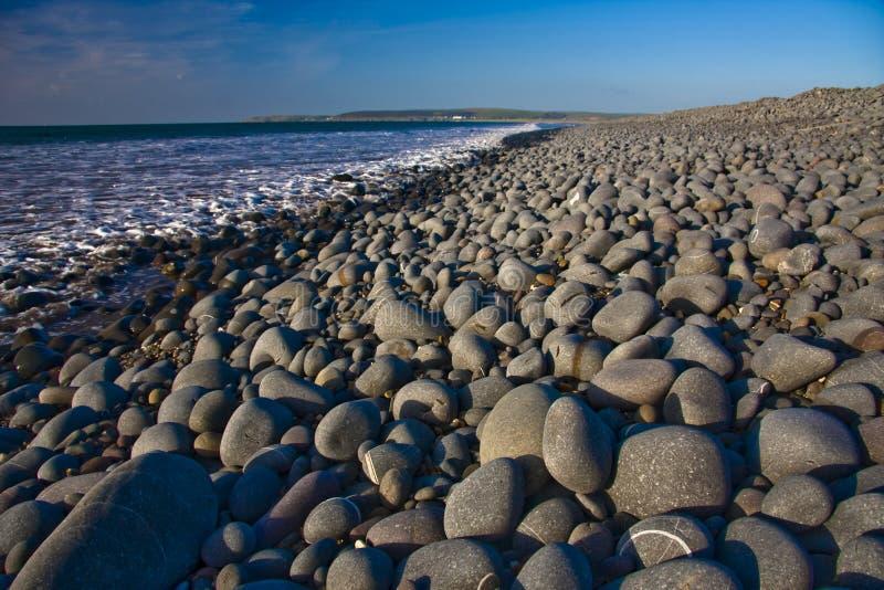 släta pebbles arkivfoto