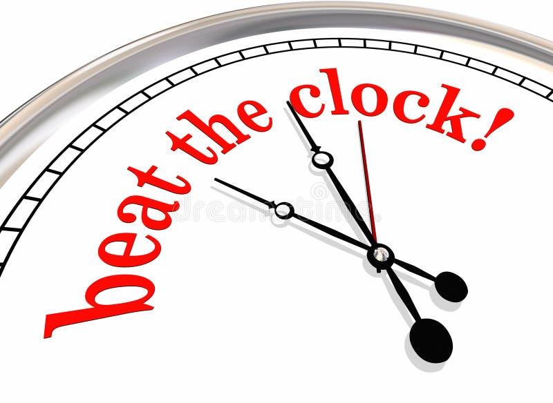 Slå den rekord- Tid 3d för klockastopptiden illustrationen royaltyfri illustrationer