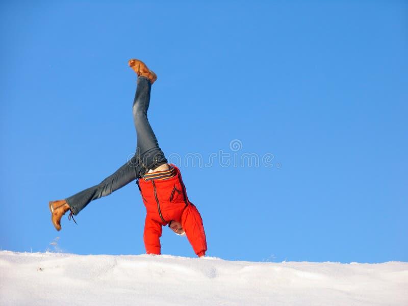 slå en kullerbytta vintern royaltyfri foto