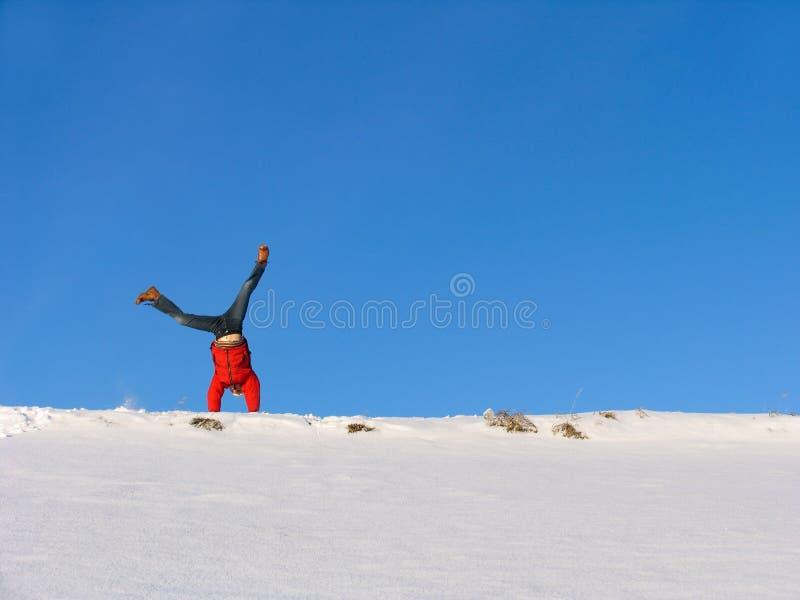 slå en kullerbytta vintern royaltyfri fotografi