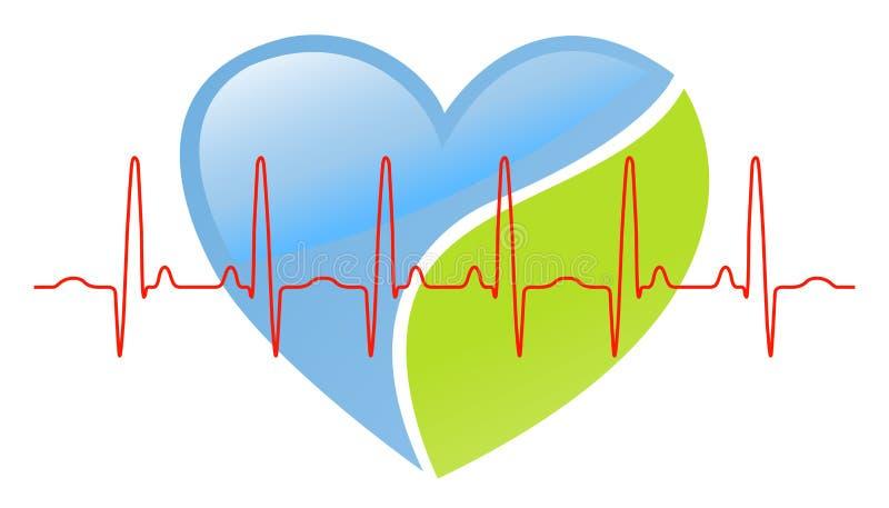 slå hjärta stock illustrationer