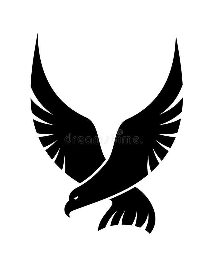 Slå ned falkfågeln vektor illustrationer
